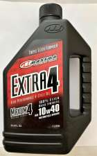 Maxima 16901 Extra4 10W-40 Synthetic 4T Motorcycle Engine Oil - 1 Liter Bottle